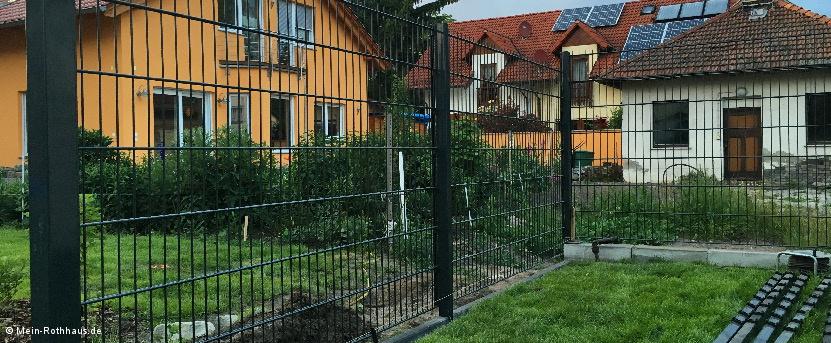 Stabmattenzaun Mein Rothhaus Haus Bau Blog